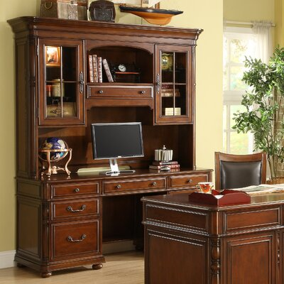 Riverside Furniture Bristol Court Credenza with Hutch