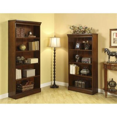 Riverside Furniture Cantata Tall Bookcase in Burnished Cherry
