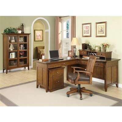 Riverside Furniture Oakton Village Mid-Back Leather Office Chair