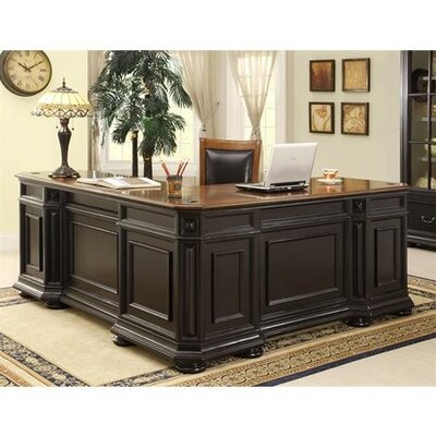 Riverside Furniture Allegro L-Shaped Executive Desk and Return