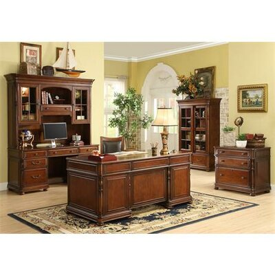 Riverside Furniture Bristol Court Lateral File Cabinet in Cognac Cherry