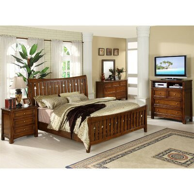 Riverside Furniture Craftsman Home Slat Bed