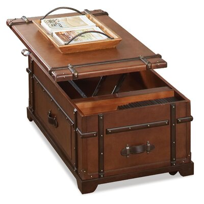 Riverside Furniture Latitudes Steamer Trunk Coffee Table with Lift Top ...