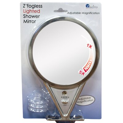 Zadro Z'Fogless Designer Series Shaving Mirror in Satin Nickel