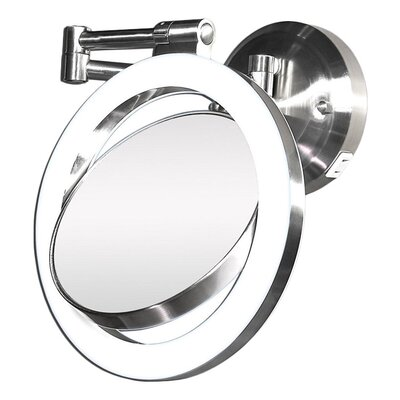 Zadro Dimmable Sunlight Wall Mirror in Satin Nickel