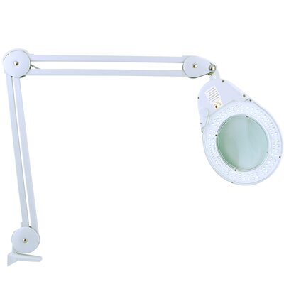 Zadro Bright LED Lighted Clamp on Magnifying Table Lamp