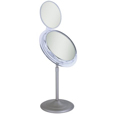 Zadro Surround Light Vanity Mirror with Folding Mini Mirror