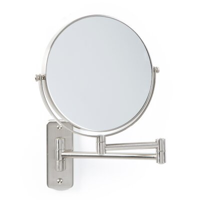 Non Lighted Wall Mount Mirror in Satin Nickel