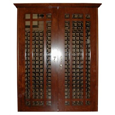 700 Grid Oak Wine Cooler Cabinet