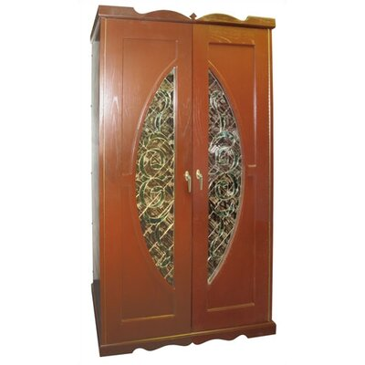 700 Monaco Beveled Window Oak Wine Cooler Cabinet