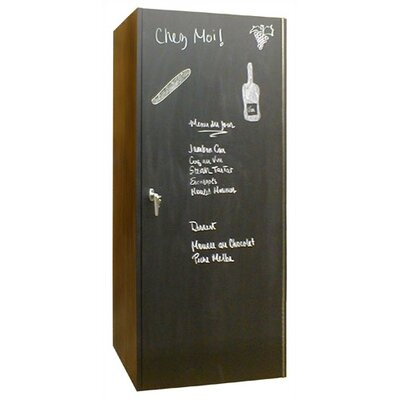 Vinotemp 440 Chalkboard Oak Wine Cooler Cabinet in Black