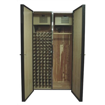 440 His/Hers Oak Wine Cooler and Fur Storage Cabinet