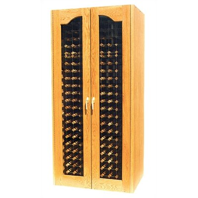 Vinotemp 440 Two Door Provincial Oak Wine Cooler Cabinet