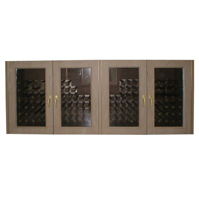 Vinotemp Oak Wine Cooler Credenza with Glass Doors