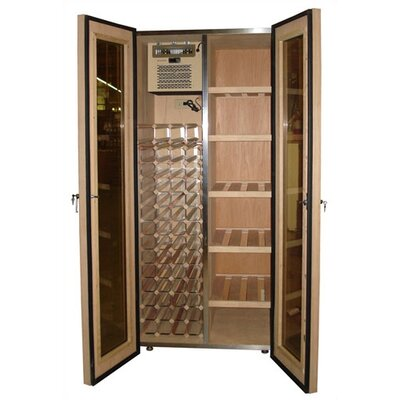 Vinotemp 440 Two Door Oak Wine & Cigar Cooler Cabinet