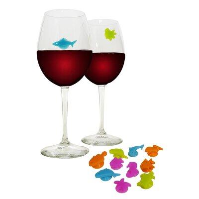 Vinotemp Epicureanist 12 Piece Sea Buddies Glass Charms Set