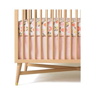 DwellStudio Solid Pink Canvas Crib Skirt