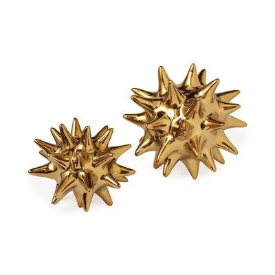 DwellStudio Urchin Shiny Gold Objet