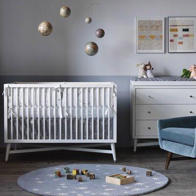 DwellStudio Galaxy Dove Percale Crib Skirt