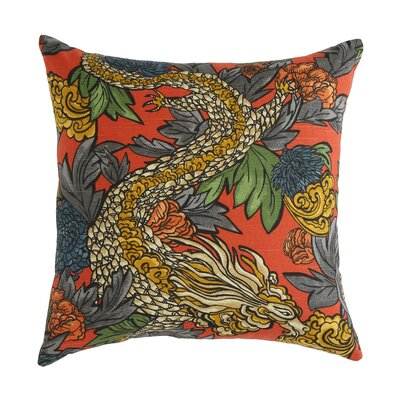 DwellStudio Ming Dragon Persimmon Pillow