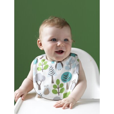 DwellStudio Owls Bib and Burp Set in Sky
