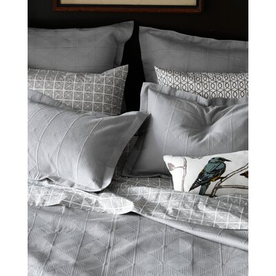 DwellStudio Pyramids Full / Queen Matelasse Blanket