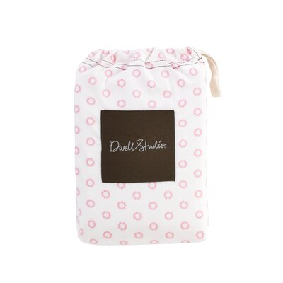 DwellStudio Floral Dot Pale Fitted Crib Sheet in Rose