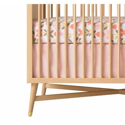 DwellStudio Solid Crib Skirt in Pink