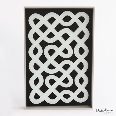 DwellStudio Labyrinth Lacquered Wood Tray