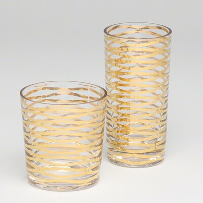 DwellStudio Ribbons Drinking Glass