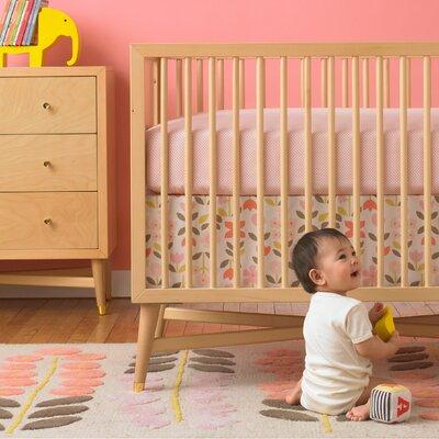 DwellStudio Rosette Blossom Percale Crib Skirt