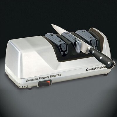 Professional Sharpening Station Electric Knife Sharpener in Brushed Metal