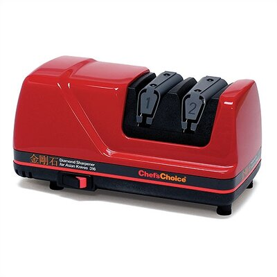 Chef's Choice Diamond Electric Knife Sharpener for Asian Knives in Red
