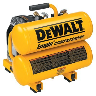 DeWalt Hand Carry-Electric Compressors - Air Compressor 2 HP 4 Gallon Hand Carry Twin Tank