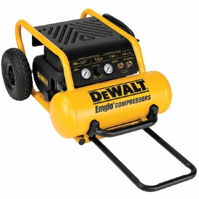 DeWalt Electric-EHP™ Portable Compressors - Heavy Duty 200 PSI 4.5 Gallon Electric Air Compressor