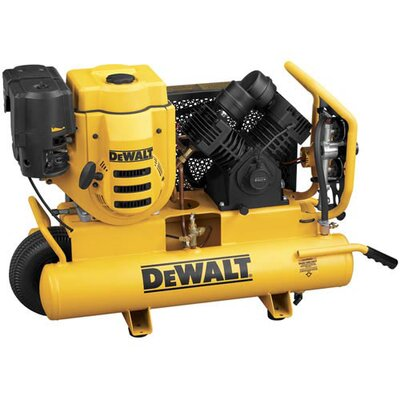 DeWalt 8 Gallon 270cc (9 HP), 150 PSI Air Compressor with 18V Battery Start
