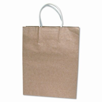 Consolidated Stamp Premium Small Brown Paper Shopping Bag, 50/Pack