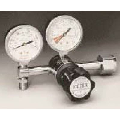 "Victor VMG-15LN 2-15 LPM CGA 540 Nut And Stem Diaphragm Style Pediatric Flowgauge Medical Regulator With 2"" Gauges"