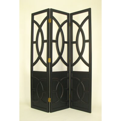 Wayborn Overlapping Circles Room Divider in Black