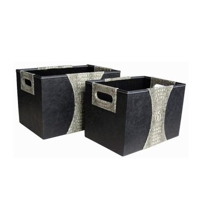 Wayborn Storage Box in Gray (Set of 2)
