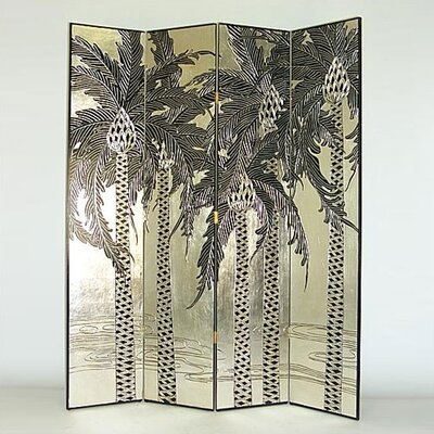 Silver Palm Trees Room Divider