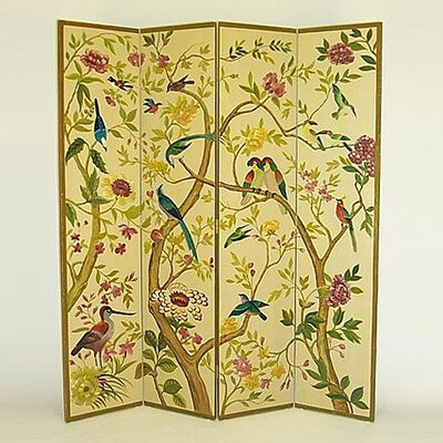Wayborn Multi - Colored Birds in Trees Room Divider