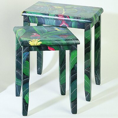 Wayborn Rainforest Parrot 2 Piece Nesting Tables