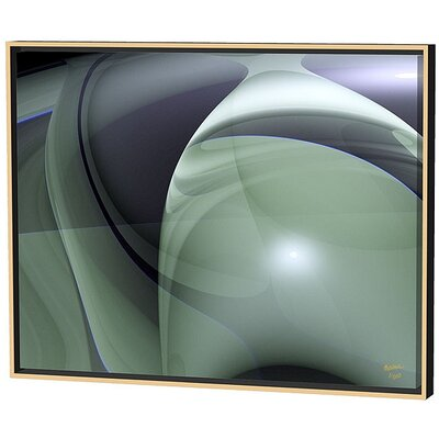 Menaul Fine Art Olive Swirls Limited Edition Framed Canvas - Scott J. Menaul