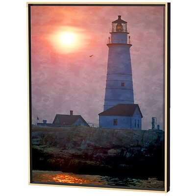 Menaul Fine Art Boston Light Limited Edition Framed Canvas - Scott J. Menaul