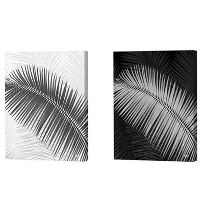 Palm Frond Limited Edition by Scott J. Menaul 2 Piece Framed Graphic Art Set (Set ...