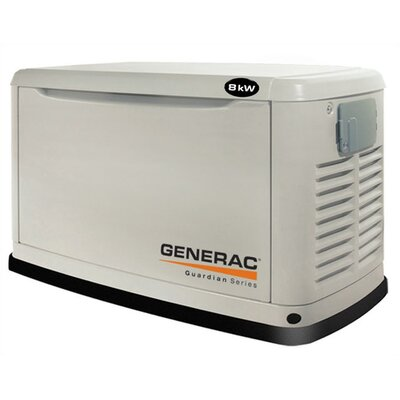 8 Kw Air-Cooled Single Phase 120/140 V Standby Generator - 6245