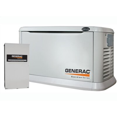 20 Kw Air-Cooled Standby Generator w/200SE switch - 6244