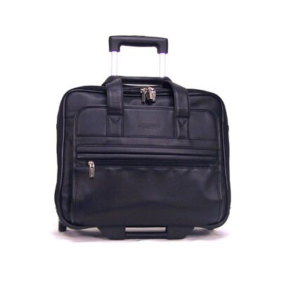Kenneth Cole Reaction Business Cases Keep On Rollin' Double Gusset Leather Laptop Catalog Case