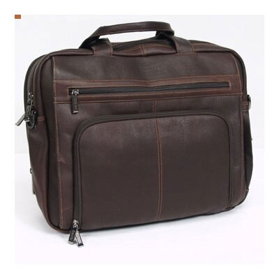 Kenneth Cole Reaction Business Cases Double Gusset Leather Laptop Briefcase
